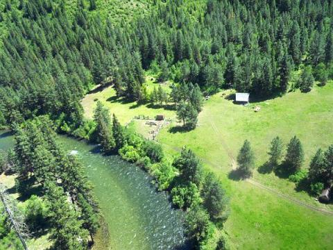Running Creek Ranch, as seen from the air