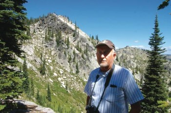Dennis Baird in front of Elk Mountain. Photo courtesy Eric Barker/Lewiston Morning Tribune