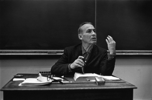 Norman Maclean teaching his popular Shakespeare class in 1970.